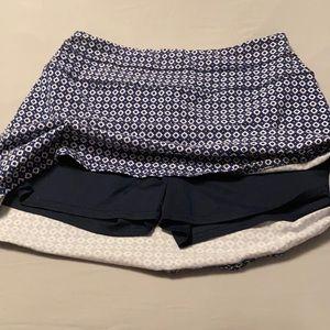 Blue patterned L skort